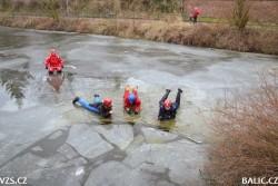 Záchrana na zamrzlé vodní ploše – SZŠ Medea Praha